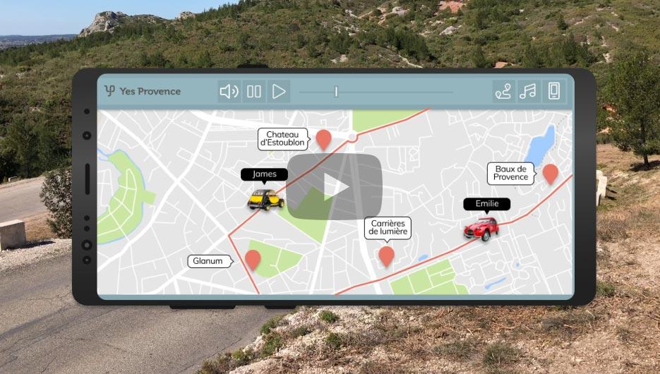 Appli mobile dédiée tourisme