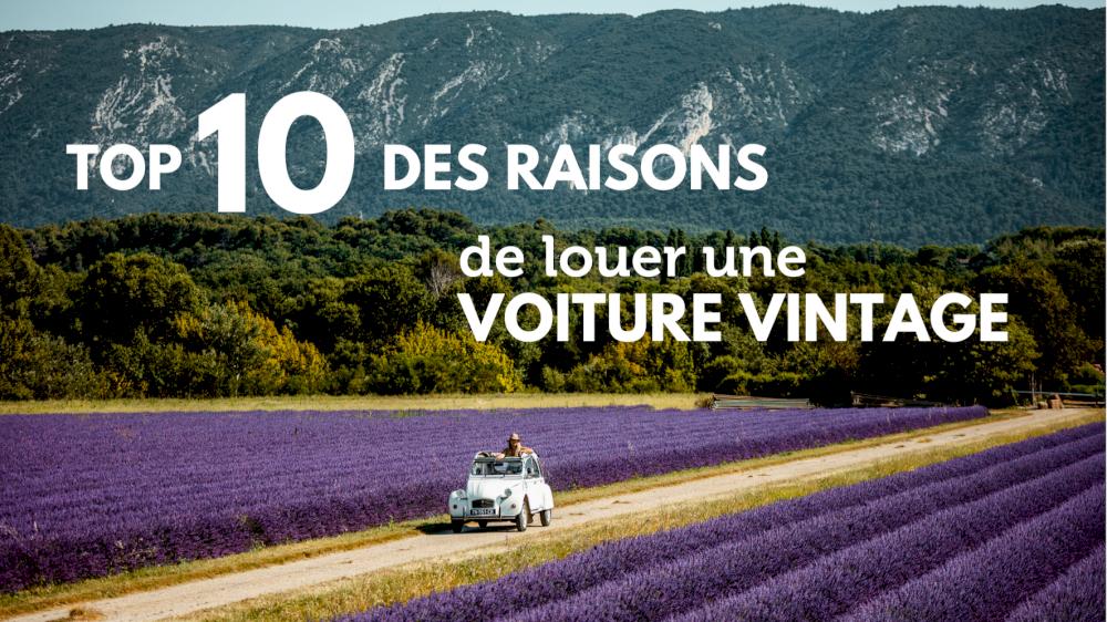 Top 10 des raisons de louer une voiture vintage