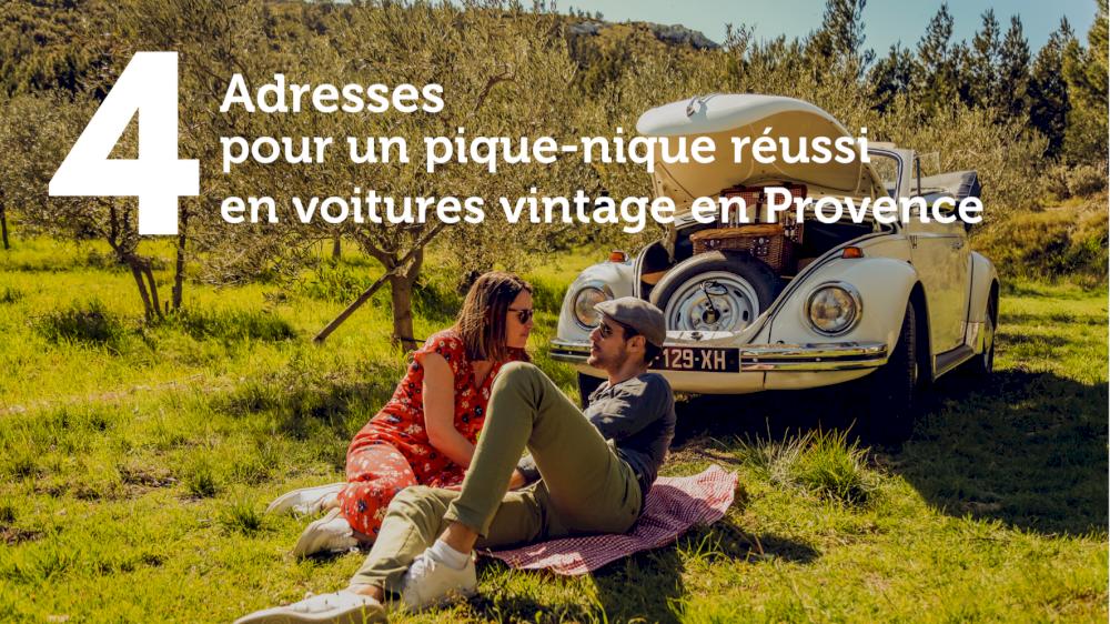 4 adresses pour un pique-nique réussi en voitures vintage en Provence