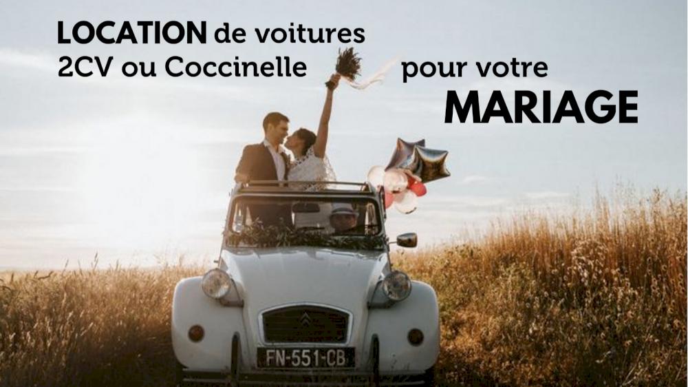 Location de voitures 2cv ou Coccinelle pour votre mariage en Provence