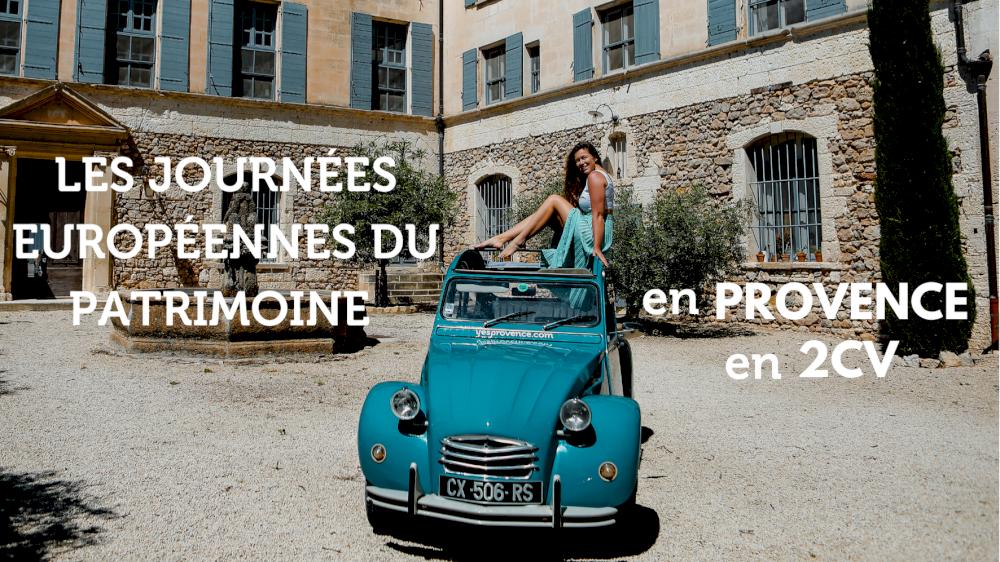 Les journées européennes du patrimoine en Provence en 2CV