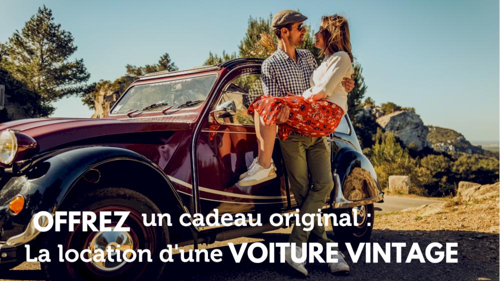 Offrez un cadeau original : la location de voiture vintage !