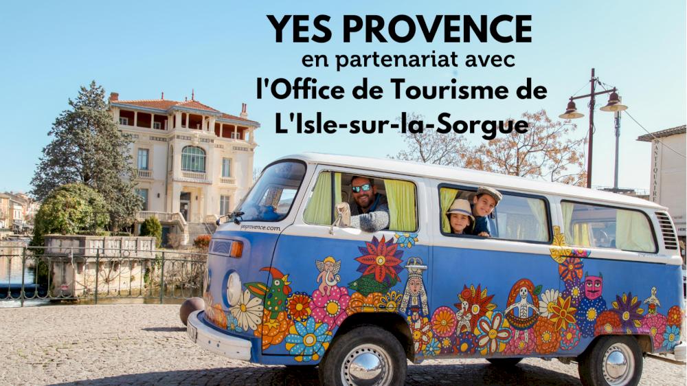 L'Office de Tourisme de L'Isle-sur-la-Sorgue parle de Yes Provence