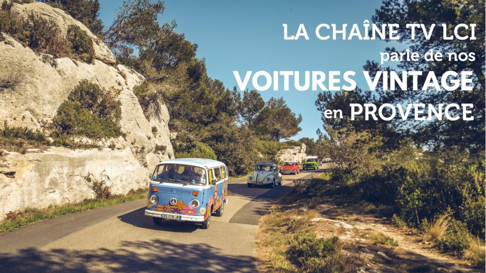 La chaine TV LCI parle des locations de voitures vintage en Provence
