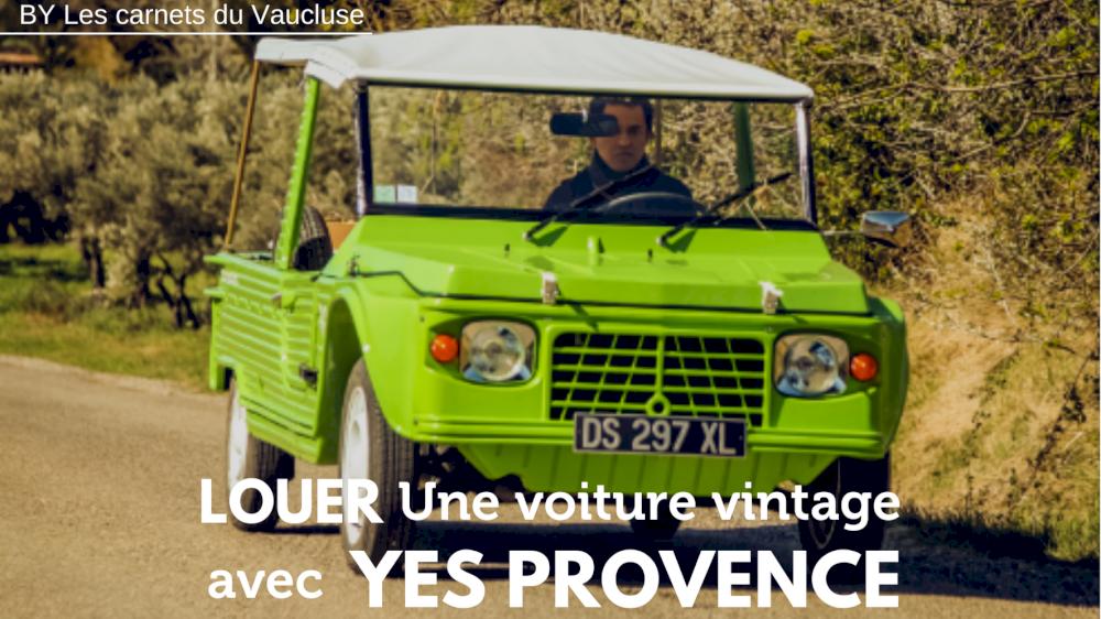 Les Carnets du Vaucluse parle des locations de voitures anciennes dans le Vaucluse