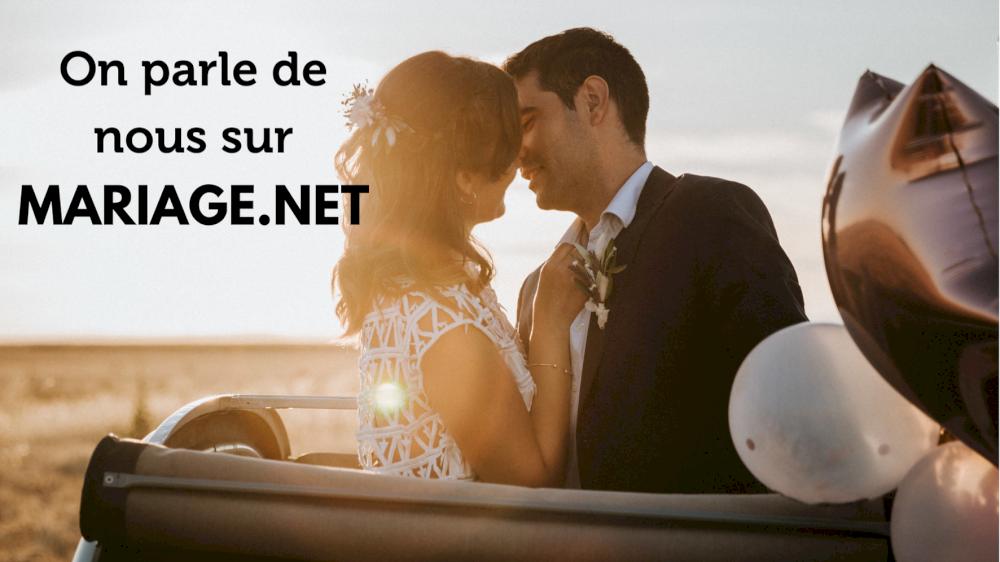 On parle de nous sur Mariage.net en Provence avec la location de 2CV Mariage
