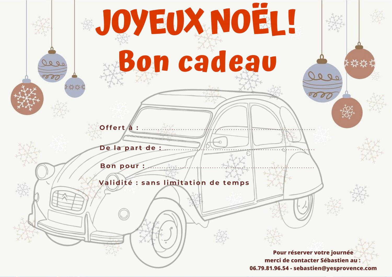 Bon cadeau Noël Yes Provence