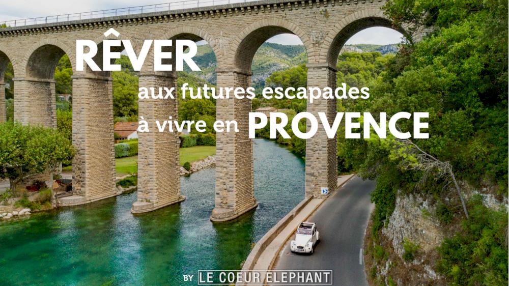 Rêver aux futures escapades à vivre en Provence à la belle saison, un bon moyen de réchauffer les soirées d'hiver !