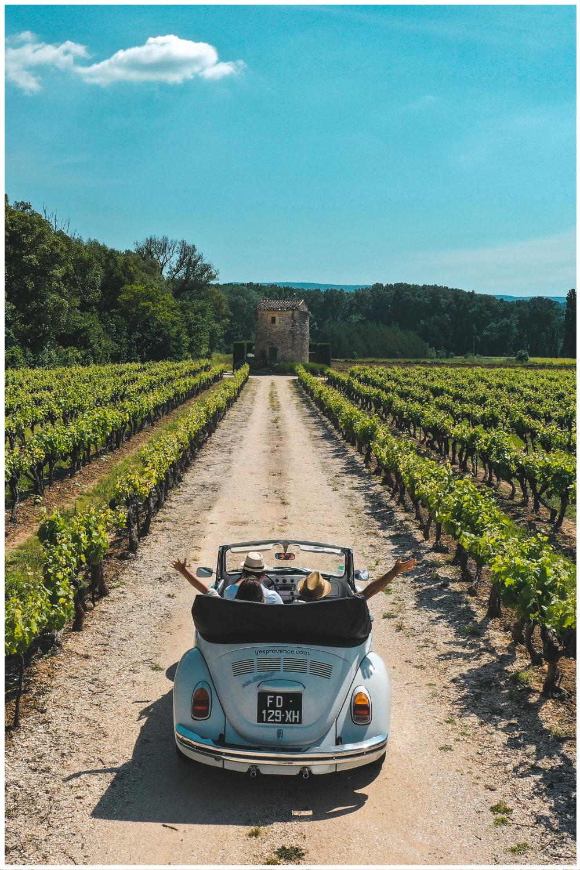 Séminaire en Coccinelle décapotable en Provence