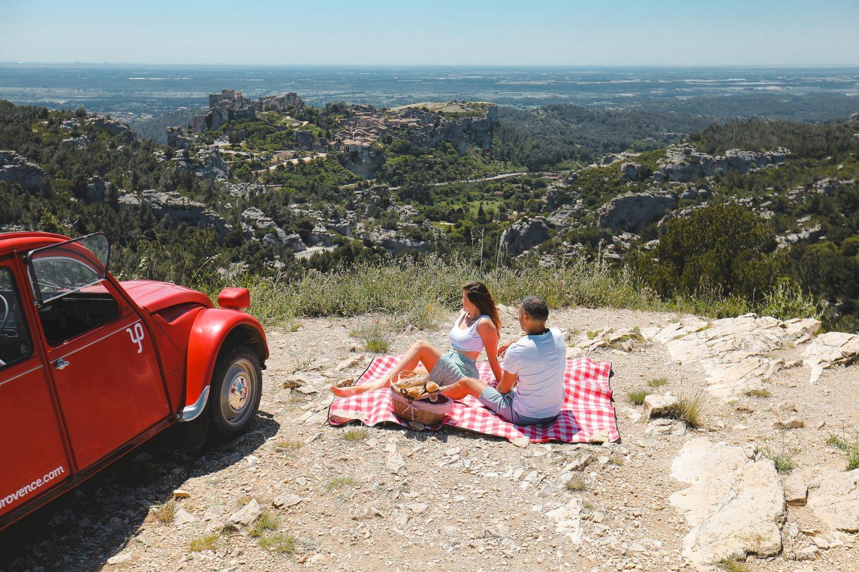 Saint Valentin 2CV en Provence