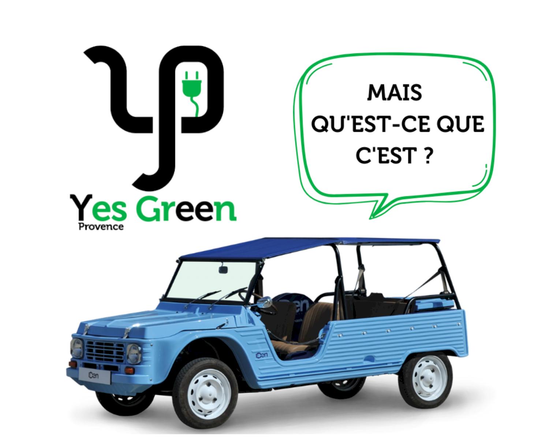 voiture vintage électrique en Provence