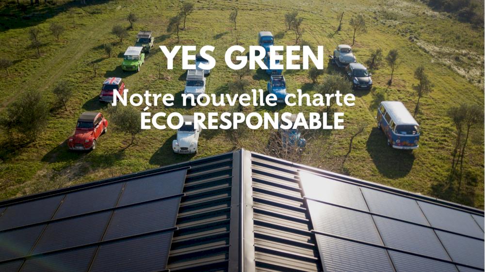 Yes Green, notre nouvelle charte éco-responsable