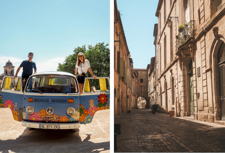 Visite de Beaucaire en voiture vintage