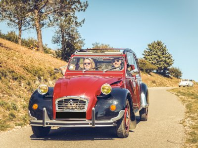 beginning of summer special offer :              Two people car ride on a 2CV ALL INCLUSIVE !